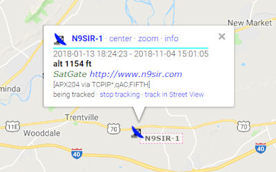 N9SIR • Amateur Radio Operator & APRS Station N9SIR-1 • EM86EA